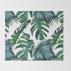 Tropical Palm Leaves Classic Throw Blanket