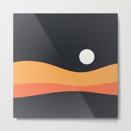 Geometric Landscape 22 Night Metal Print