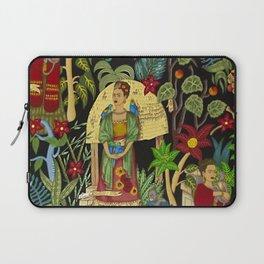 Frida's Garden, Casa Azul Lush Greenery Frida Kahlo Landscape Painting Laptop Sleeve
