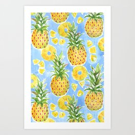 Pineapple Summer Art Print