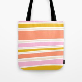 del mar, 70's stripes Tote Bag