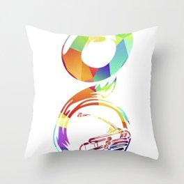 Sousaphone Throw Pillow