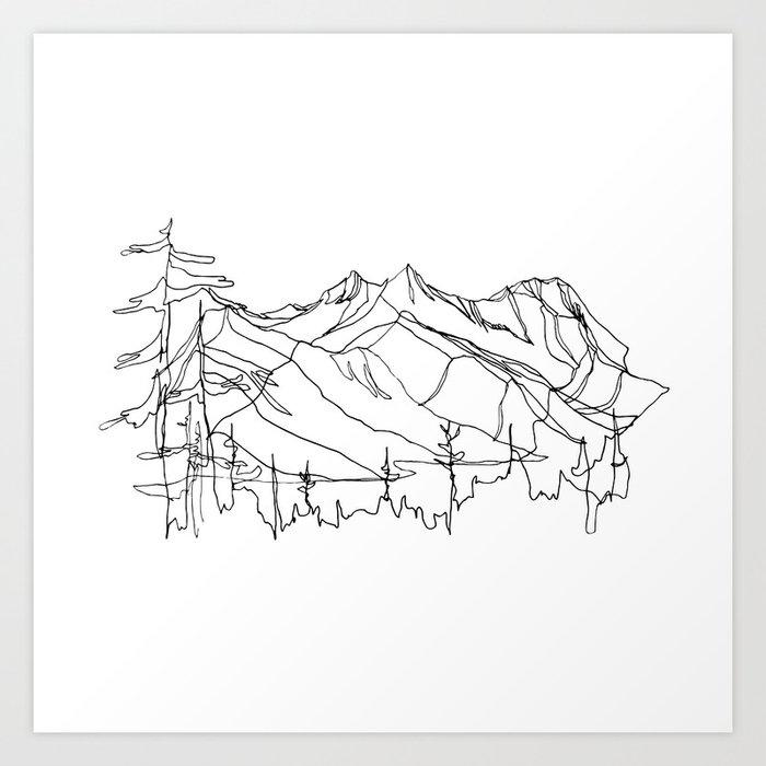 Squamish Summits :: Single Line Kunstdrucke