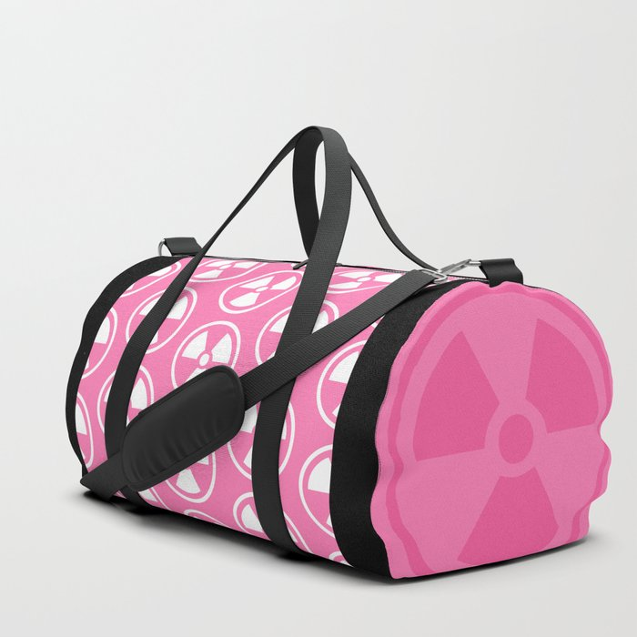 Pink Radioactive Symbol Duffle Bag