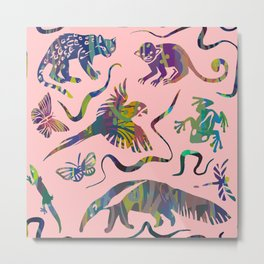 Pink jungle Metal Print
