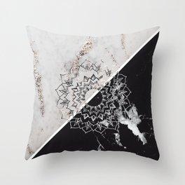 Yin Yang Mandala on Marble #2 #decor #art #society6 Throw Pillow