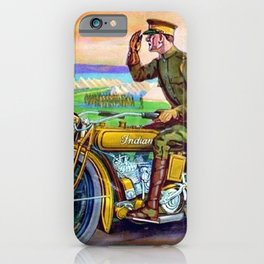 1918 WWI Vintage Motorcycle Dealer's Sign - Advertising Poster iPhone Case