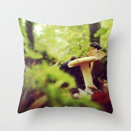 mushroom, hazelwood, sligo Throw Pillow