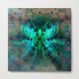 Butterfly Abstract G541 Metal Print