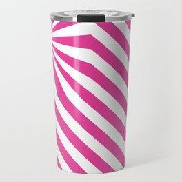 Stripes explosion - Pink Travel Mug