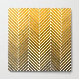 Parquet All Day - Gold Lamé Metal Print