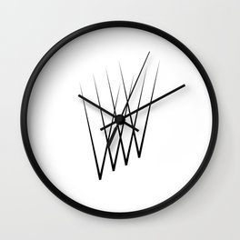 """ Eclipse Collection"" - Minimal Letter V Print Wall Clock"