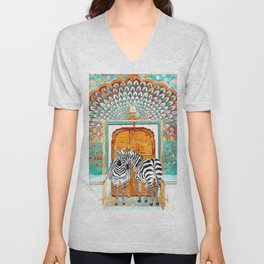 Zebra - Take Your Stripes Wherever You Go Unisex V-Neck