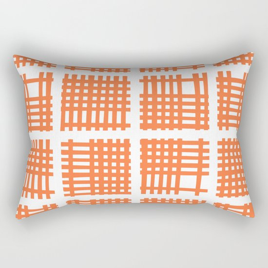 Mid Century Modern Abstract Squares Orange by tonymagner
