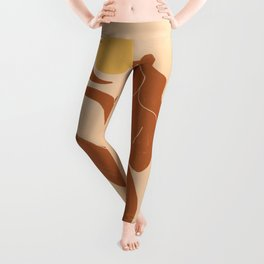 The Sun, The Moon and a Woman Leggings