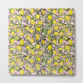 Lemons for pink lemonade Metal Print