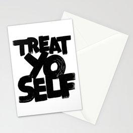 treat yo self Stationery Cards