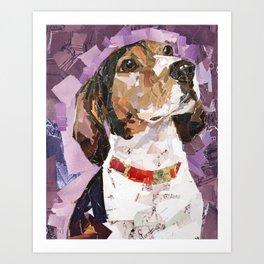 Delilah The Treeing Walker Coonhound Art Print