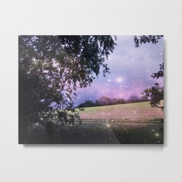 The Night has a Thousand Eyes. Metal Print