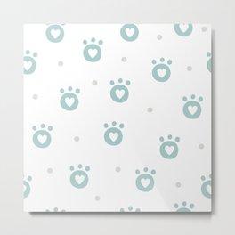 Animal Foot patterns Metal Print