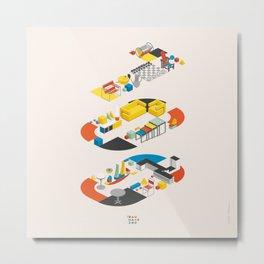 Bauhaus 100 Metal Print