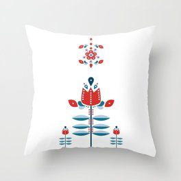 Retro No | 2 Throw Pillow