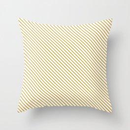 Spicy Mustard Stripe Throw Pillow