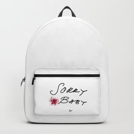 Killing Eve - Sorry Baby -quote-Villanelle Backpack