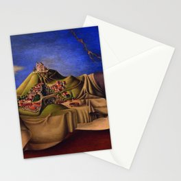 'The Dream of the Malinche' magical realism dream portrait painting by Antonio Ruiz Stationery Cards