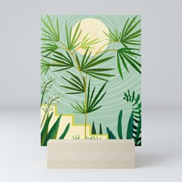 Summer Moon / Tropical Garden Illustration Mini Art Print