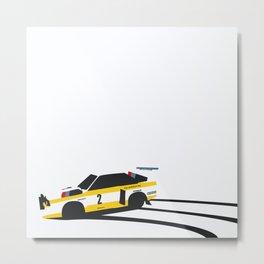 Quattro Slide Rally Car Metal Print