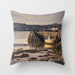 Instow Ferry Wharf Throw Pillow