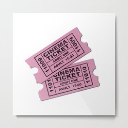 Cinema Tickets Metal Print