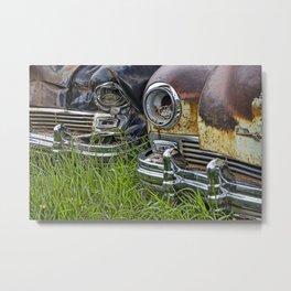 Vintage Frazer Auto Wreck Front Ends Metal Print