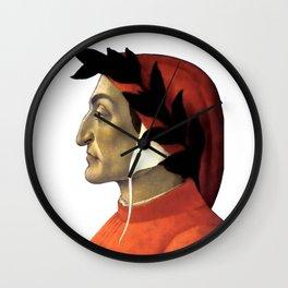 "Sandro Botticelli ""Dante Alighieri"" Wall Clock"