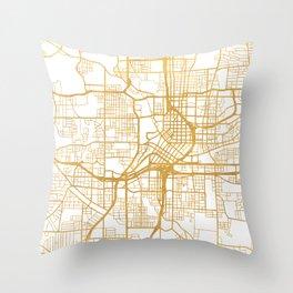 ATLANTA GEORGIA CITY STREET MAP ART Throw Pillow