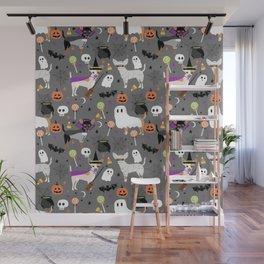Chihuahua halloween cute spooky seasonal dog pattern chihuahuas Wall Mural