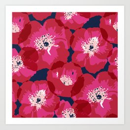 Big Poppies Art Print