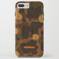 Modern Woodgrain Camouflage / Duck Print iPhone 8 Plus Tough Case