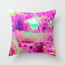 Pastel Sunrise in The Garden Throw Pillow