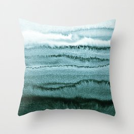 WITHIN THE TIDES - OCEAN TEAL Throw Pillow