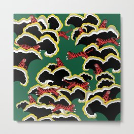 Oriental Forest Tiger Metal Print