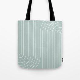Minimal Line Curvature - Sage Tote Bag