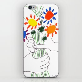 Pablo Picasso Bouquet Of Peace 1958 (Flowers Bouquet With Hands), T Shirt, Artwork iPhone Skin