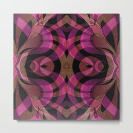Floral Geometric Abstract G309 Metal Print