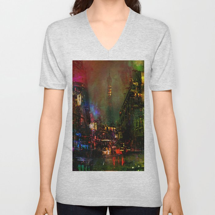 A night in Paris Unisex V-Neck