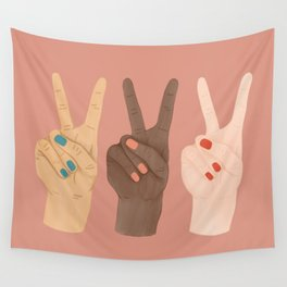 Peace Hands Wall Tapestry