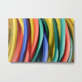 Colored Rubbers Metal Print