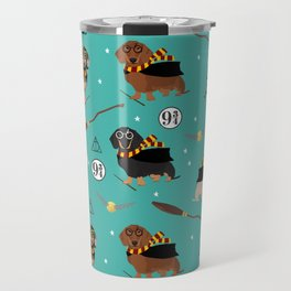 dachshund witch wizard magic wiener dog gifts Travel Mug