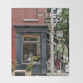 Picturesque restaurant in Greenwich Village, New York Throw Blanket